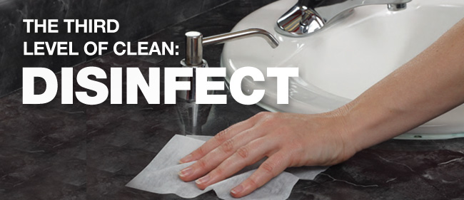 The third level of clean Disinfecting services